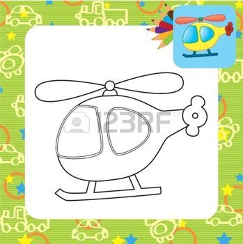 Toy helicopter  Coloring page photo