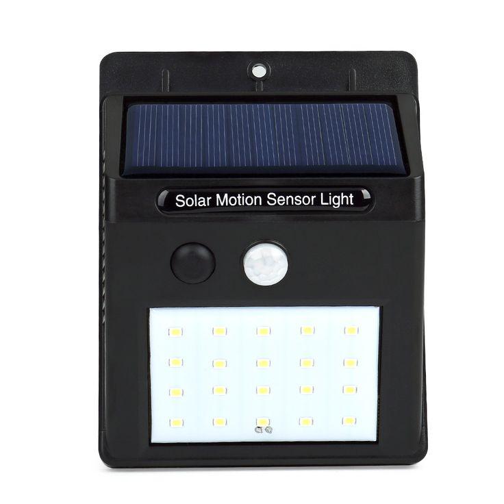 Solar Power LED PIR Motion Sensor Wall Light 20 LED открытый Водонепроницаемый Энергосбережения Улице Двор Путь Главная Сад Безопасность лампы