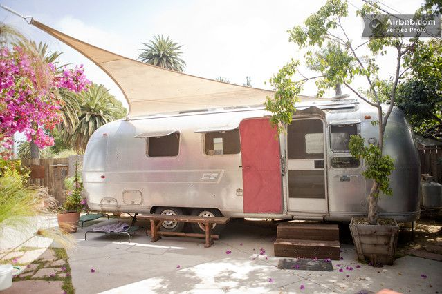 Eco chic Airstream rental near LA  http://tinyhouselistings.com/tiny-house-vacation-rentals-on-airbnb-part-2/