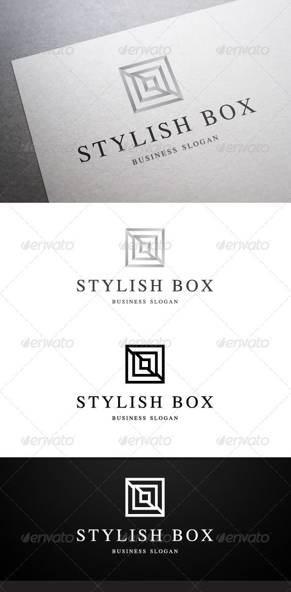 stylish box logo graphicriver whats included colour cmyk files ai