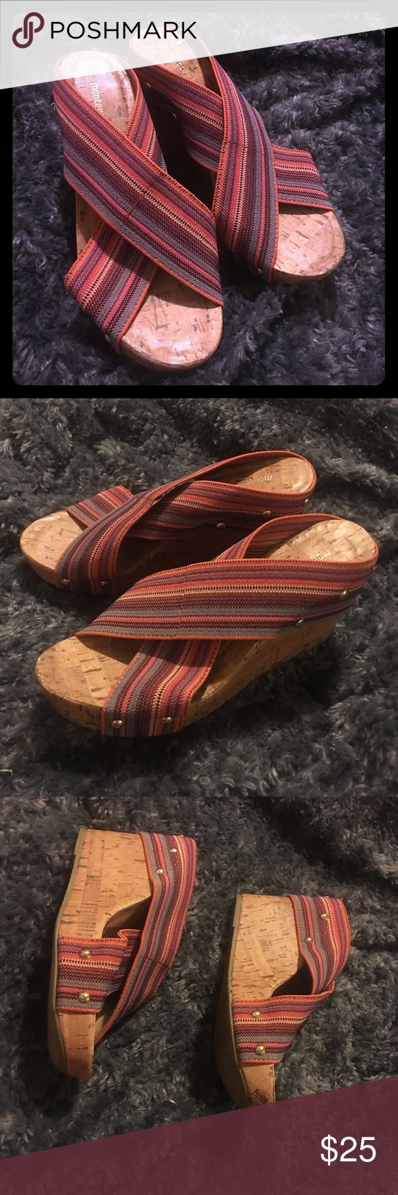 Montego bay club multicolor wedges size 7 Cute montego wedges very comfortable size 7 montego bay club Shoes Wedges