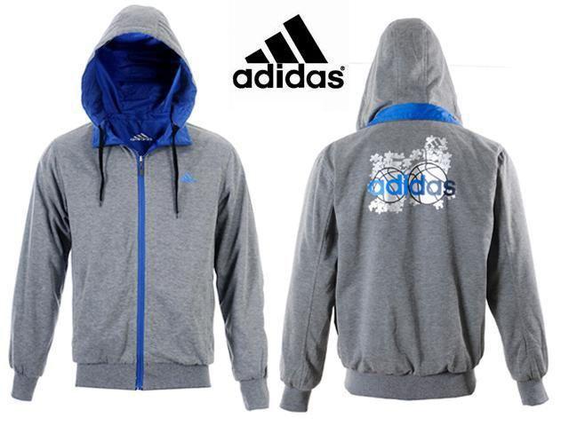 Chaquetas Adidas Hombre WC63Sudaderas Adidas Hombre Con Capucha Plata Cremallera Color Puro y La Moda