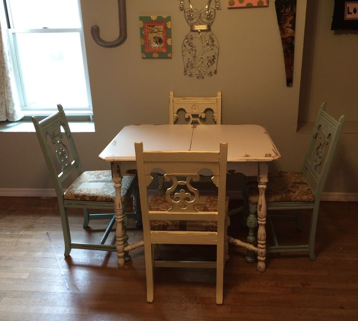 Shabby Chic Kitchen Table: 18 Best SOLD: Antique Shabby Chic Kitchen Table & 4 Wood