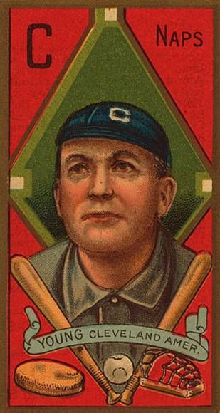 Cy Young baseball card from 1911... no PED investigation... just natural talent.
