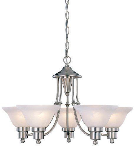 Hardware House 544452 Bristol 5-Light Chandelier Brushed Nickel