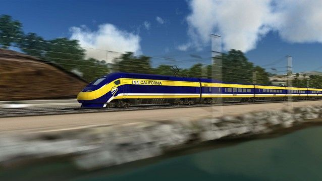 On Tuesday, California's bullet train, which will truncate commutes across the state and forever change how people get around, breaks ground in the Central Valley hub of Fresno. The process up to this point has been anything but high-speed, and supporters hope the ceremonial groundbreaking will usher in a new era that eventually brings the full rail system into use by 2028. A first-of-its-kind project in the U.S., it may also be a major step on the path  1280px-FLV_California_train