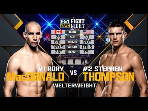 UFC (Ultimate Fighting Championship): UFC 209 Free Fight: Stephen Thompson vs Rory MacDonald
