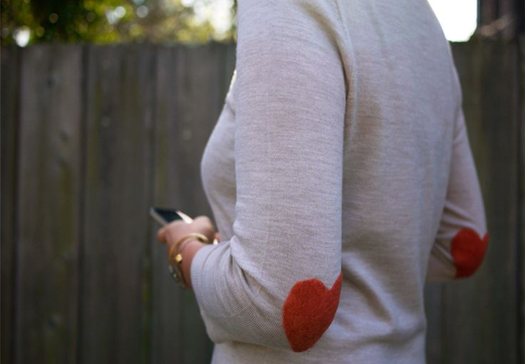 heart elbow patches. love.: Heart Crafts, Weekend Projects, Diy Heart, Elbow Patches, Fashion Style, Cute Ideas, Heart Elbow, Felt Heart, Diy Projects