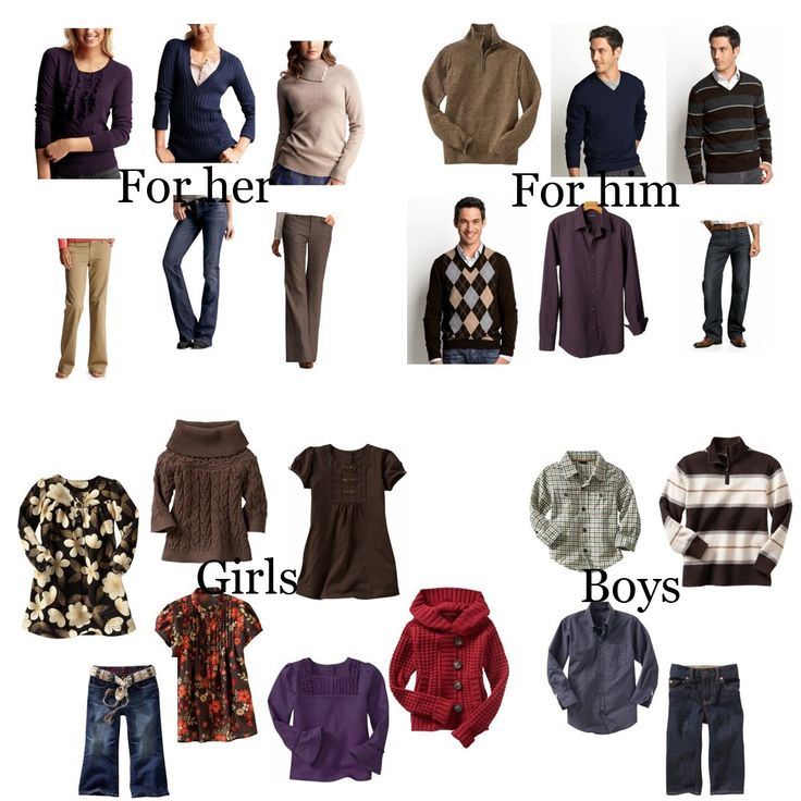 17 best images about clothing options for pictures on Fall family photo clothing ideas