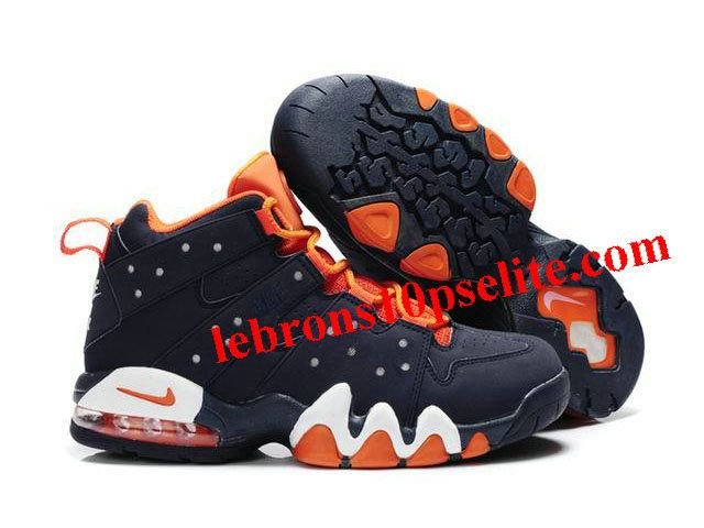 New Nike Air Max2 CB 94 Dark Blue/Orange - Charles Barkley Shoes