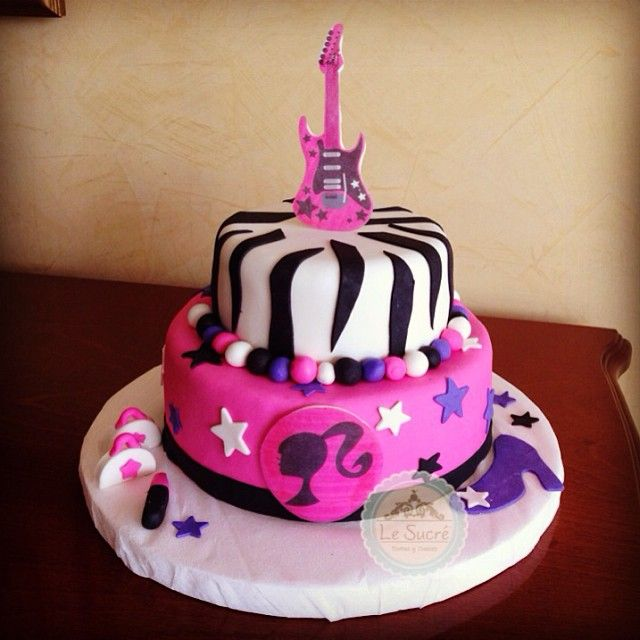 Barbie Rock Star cake