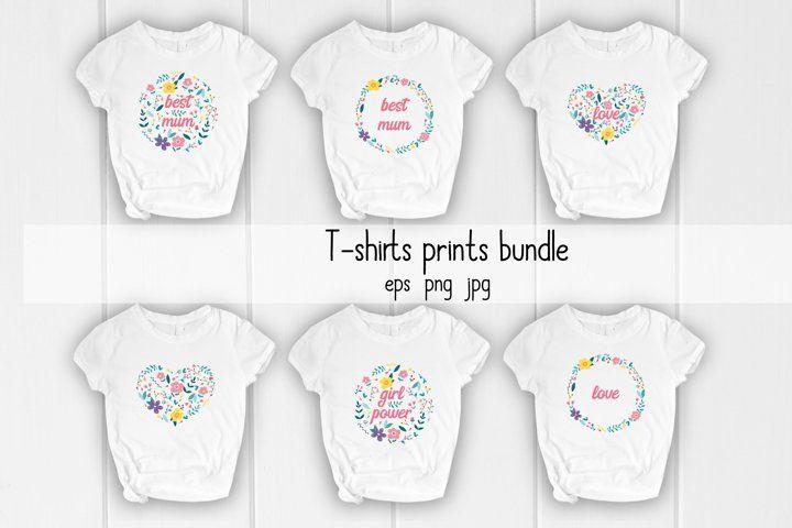 Download Flowers Print T Shirt Design Eps Png Jpg 663534 Illustrations Design Bundles Tshirt Designs Shirt Designs Design