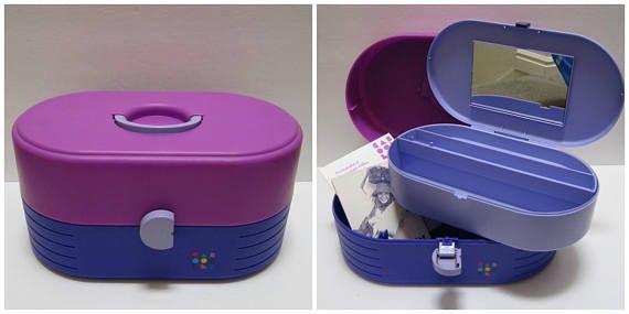 Vintage Caboodles Case Purple And Pink Large Caboodles Makeup
