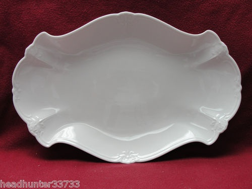 """~~~This wonderful platter comes in two sizes and I have one of each. """"Baroness White"""" by Huschenreuther, Gemany"""
