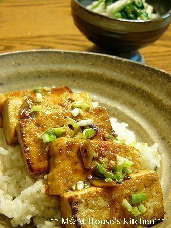 簡単だけど めちゃ旨☆ガーリック豆腐ステーキ丼♪ : ** mana's Kitchen ** c0139375_13561732.jpg