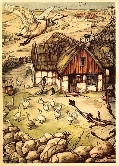 Anton Pieck The Wonderful Adventures of Nils Illustrations for the book by Selma Lagerlöf