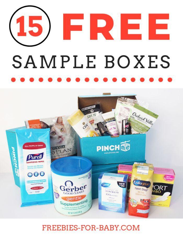 15 Free Sample Boxes Legit Free Stuff For Moms Free Baby Samples Free Sample Boxes Baby Samples