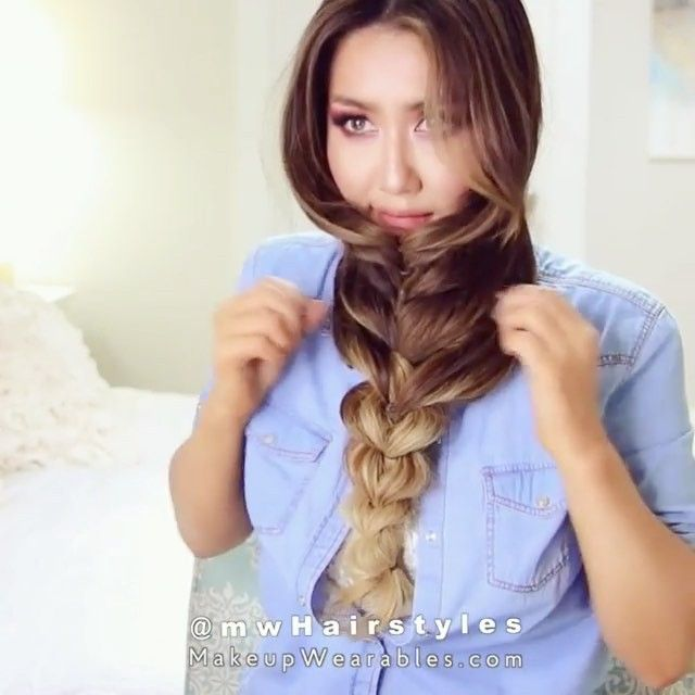 Gorgeous reverse braid by @mwhairstyles  #hudabeauty