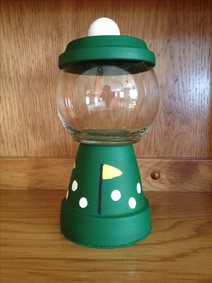 Golf candy jar diy