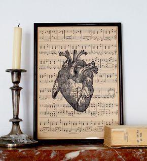 DIY : un cadre avec une planche anatomique à imprimer #freebies #printable #anatomy #heart