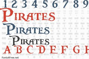 Pieces of Eight font, aka Pirates of the Caribbean font is a gothic, various font designed by Steve Ferrera. Pieces of Eight font is available for free download for noncommercial, personal projects.