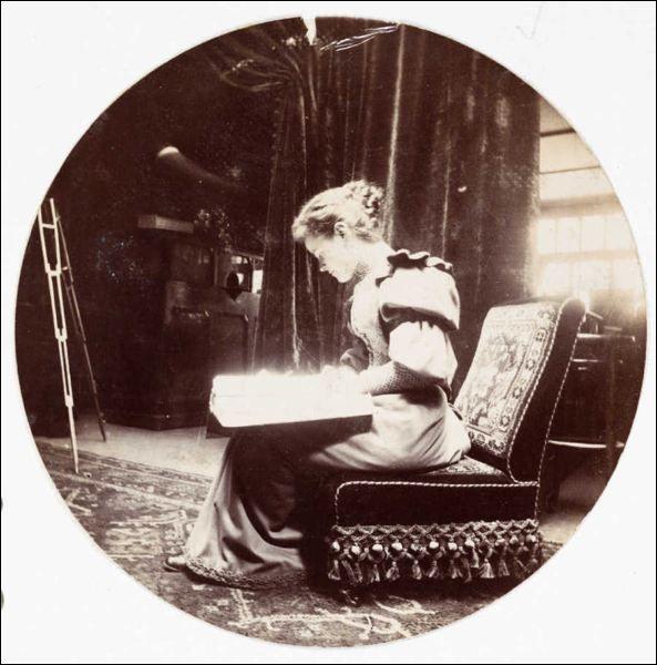 Kodak Woman Reading, 1880-1890