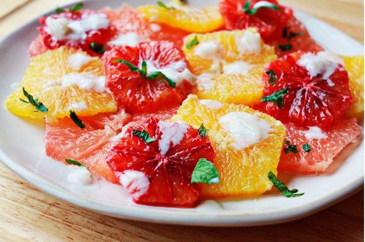 Postres originales: Ensalada de naranja con yogurt