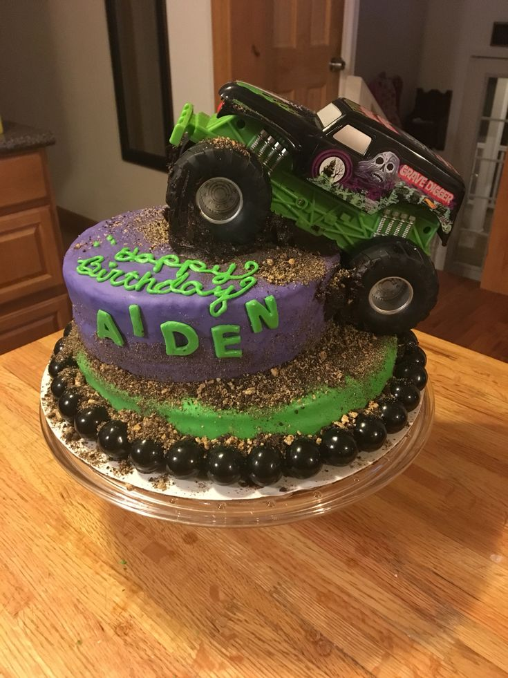 Monster Truck Grave Digger Destruction Cake Monster