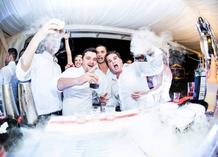 Doing cocktails at the Ice Bar! #archiaweddings