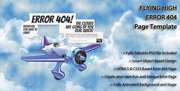 High Flyer #Error404 #HTML #Template on #GraphicMonk