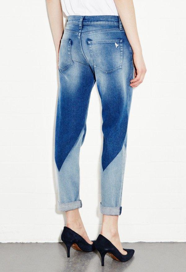 Phoebe Slim Jean - Slim boyfriend leg - Triangle Wash - MiH