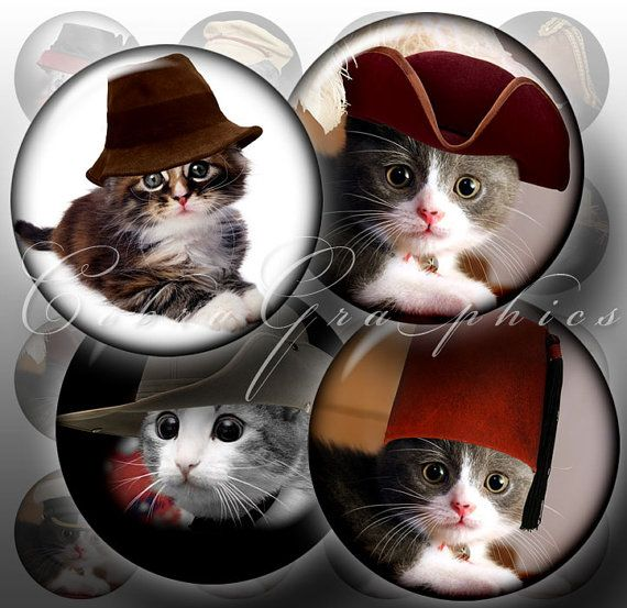 Cat In The Hat  Digital Collage Sheets CG394 by CobraGraphics, $4.20