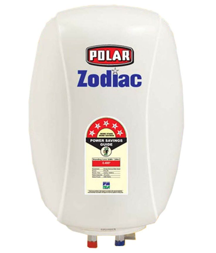 POLAR 15 LTR ZODIAC ABS 5 STAR GEYSER WHITE A combination of features, style and utility, the POLAR 15L WHAH15M1 water heater is an excellent choice. The POLAR geyser is small in size and has a unique and  compact design that will not take up a lot of space in your bathroom. #Online_geyser  #Buy_Geyser_in_India