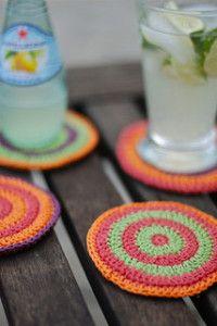 Lavoro All'uncinetto, Dieci Modelli Crochet Di Sottobicchieri