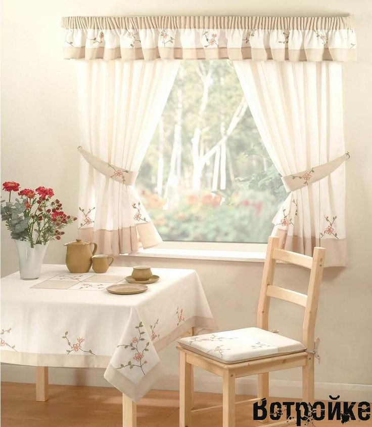 Дизайн штор-тюли на кухню