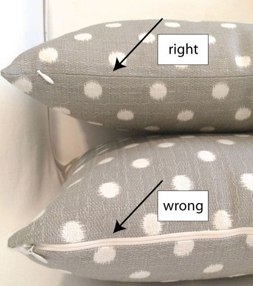 Make a pillow cover with an invisible zipper (no pins needed!)