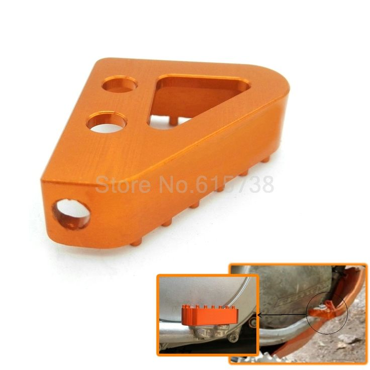 Hot sale Orange CNC motorcycle billet aluminum rear brake pedal step tips for KTM 65 85 125 150 250 350 450 SX SXF #Affiliate