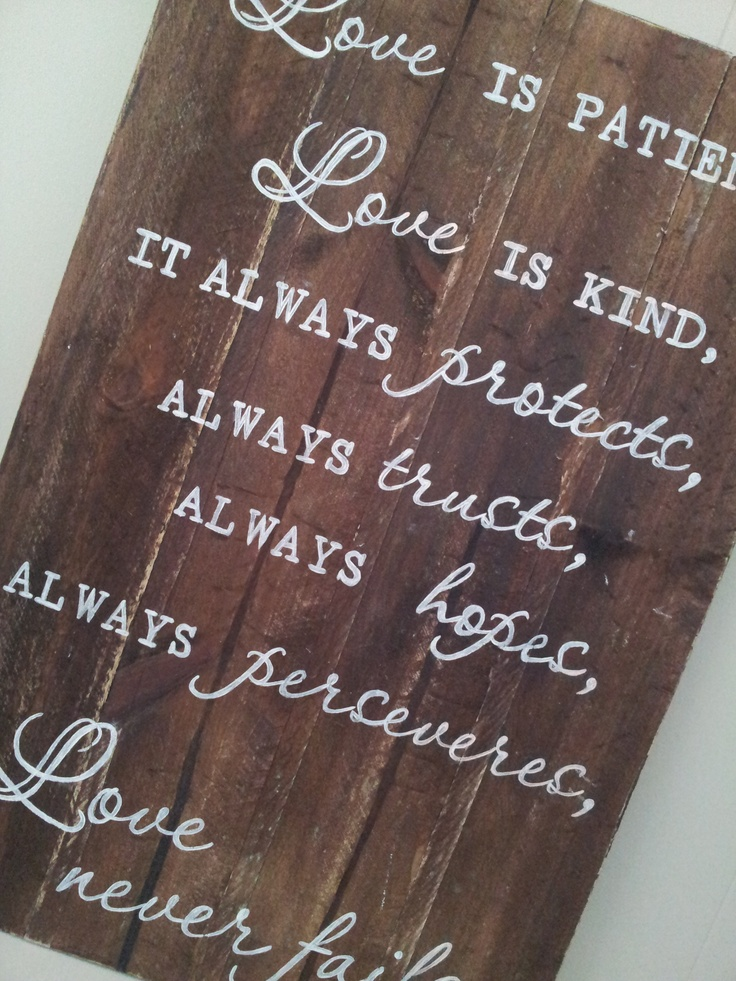 Handpainted wooden sign