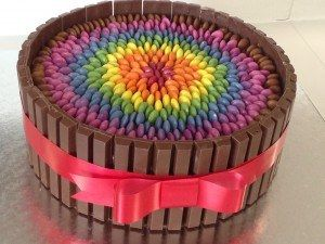 Choc Rainbow Smarties Cake