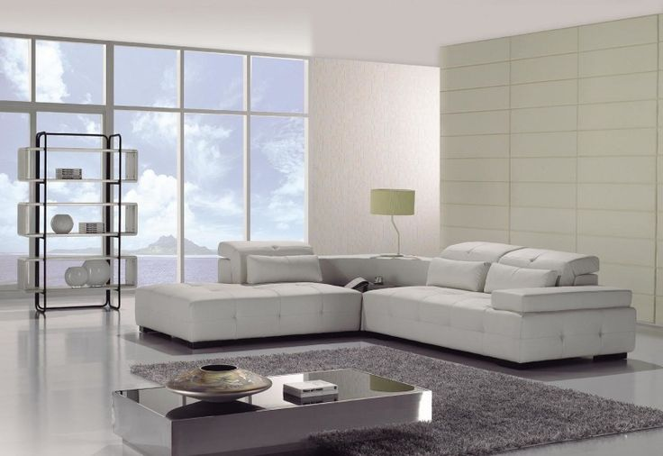 Modern L-shape sectional sofa -- ENTERTAINMENT ROOM