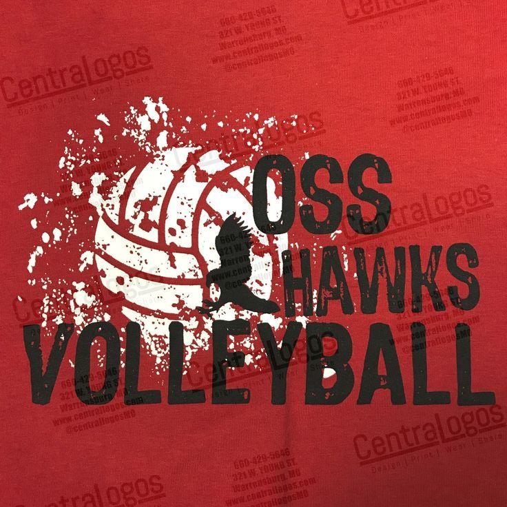 Shirts printed for OSS Hawks Volleyball Team.  #CentralLogosMO #customscreenprinting
