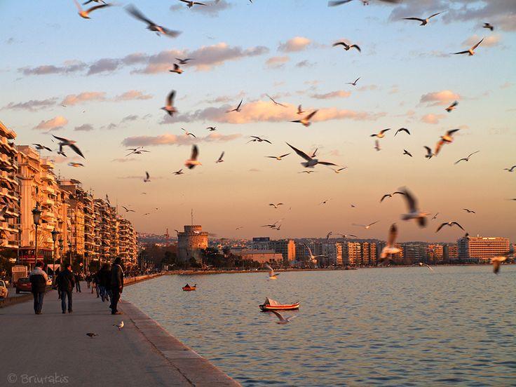 Sunset in Thessaloniki by Konstantinos Brintakis on 500px