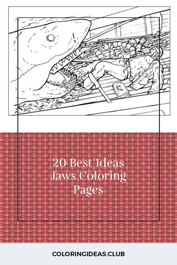 20 Best Ideas Jaws Coloring Pages in 2020   Coloring pages ...