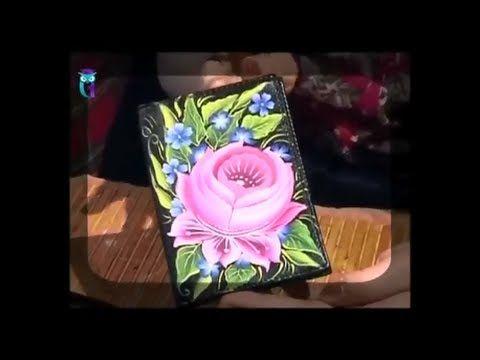Роспись в технике одного мазка (One Stroke). Рисуем Тагильскую розу. Мас...