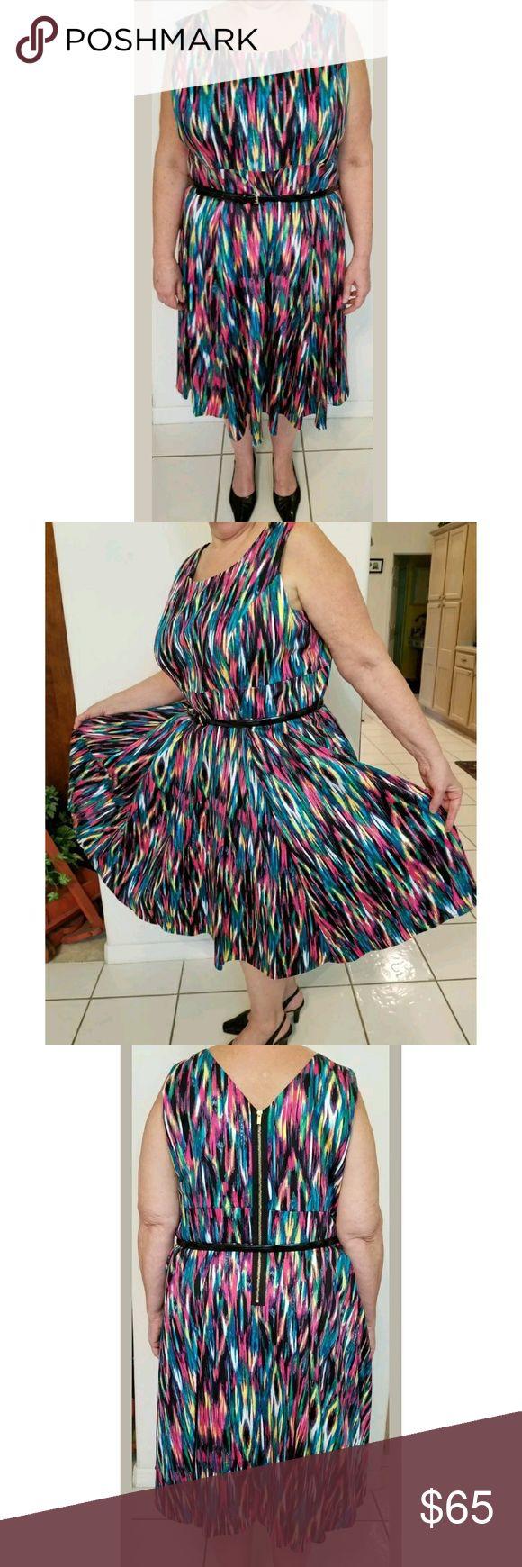 Calvin Klein Rainbow Dress Beautiful excellent condition size 20W dress Calvin Klein Dresses Maxi