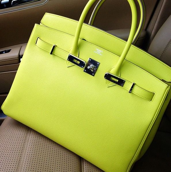 Neon Yellow Hermès - must have! neon is the new neutral!