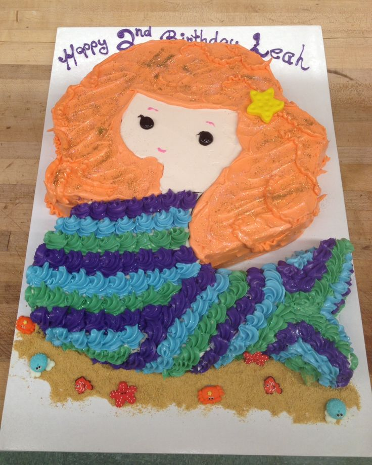 Mermaid shaped cake, perfect for a summer pool party  party ideas ...