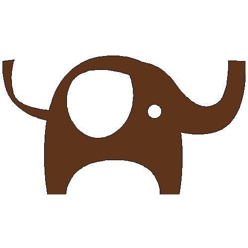 veloursmotief olifant | jongens | full color strijkapplicaties en zo