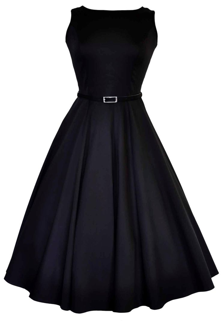 "The Black Hepburn Dress The stunning ""Lady Vintage"" 50s Audrey Hepburn Style Dress is back for 2013 in nine fabulous prints.  Lady V sizes *UK* 8 - 28"