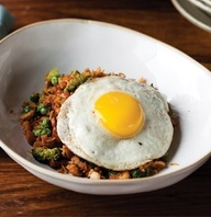 Nasi Goreng, Delicious Indonesian Food. Fried Rice with Egg.